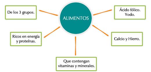 La alimentaci n en el embarazo educaci n para la salud - Alimentos ricos en calcio y hierro ...