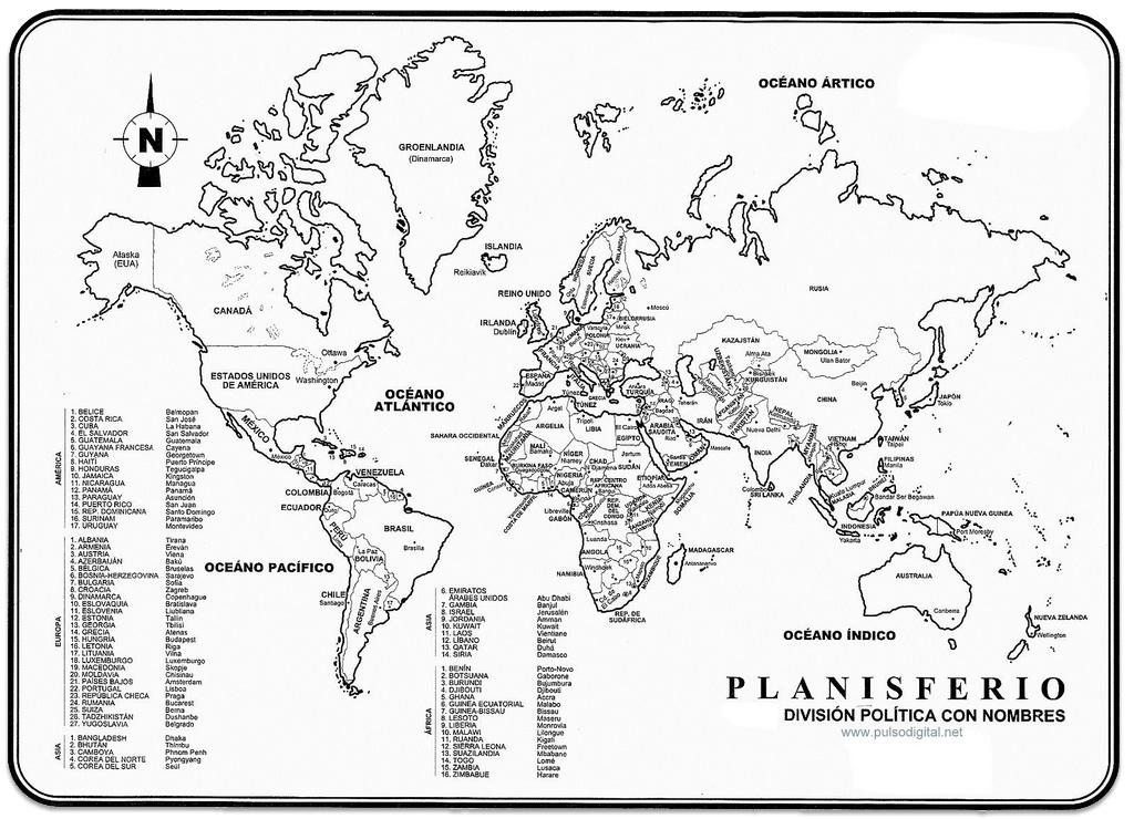 Un mundo de pases  Geografa