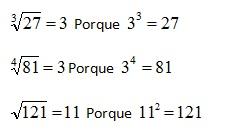 Radicación De Un Número Entero Matemática I